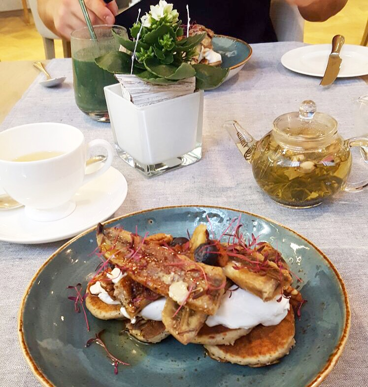 vegan pancakes coconut yoghurt grace belgravia bikini girls diary